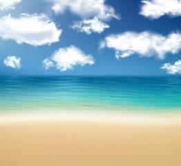 Tropical sunny summer coast.