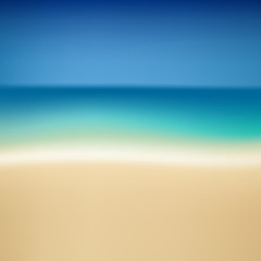 Tropical summer coast.