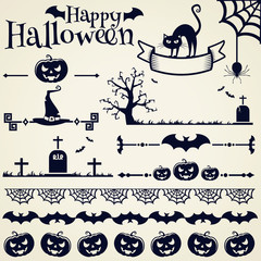 Halloween design elements. Vector set.