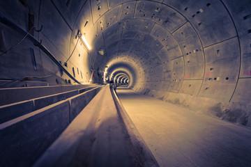 Foto auf AluDibond Tunel Hamburg U4 Ubahntunnel