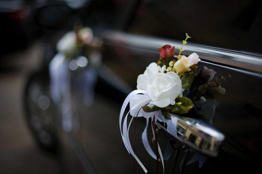 Decorated Wedding Car