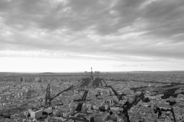 Paris view from above from Montparnasse Tower