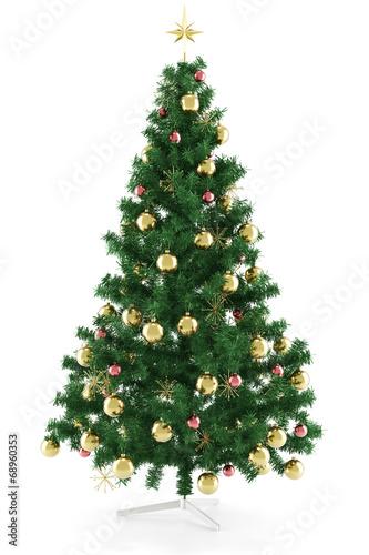 geschm ckter weihnachtsbaum mit stern zu weihnachten stockfotos und lizenzfreie bilder auf. Black Bedroom Furniture Sets. Home Design Ideas