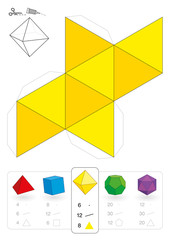 Platonic Solids Paper Model Template - Buy this stock vector and ...