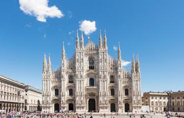 Keuken foto achterwand Milan Duomo of Milan,Italy.Cathedral.Travel landmark.Piazza del Duomo.