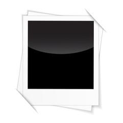 Retro photo frames isolated on white background.