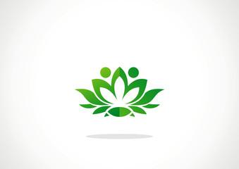Ecological emblem or logo. Vector illustration