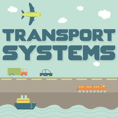 """""""Transport systems"""" phrase and means of transportation"""