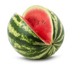 tasty juicy watermelon isolated on the white background