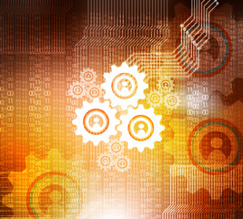 cogwheel technology background.