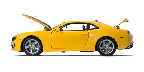 New yellow model car sports