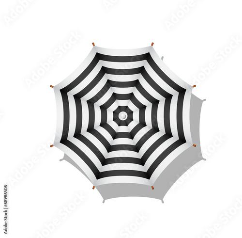 Black And White Striped Beach Umbrella