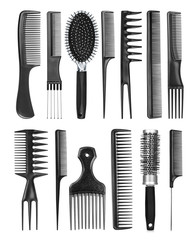Professional hairdresser comb on an isolated background