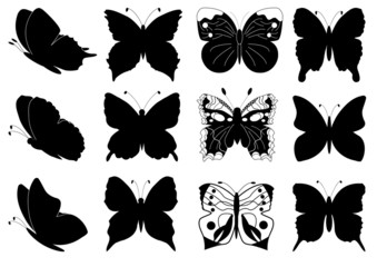 Butterflies set for design