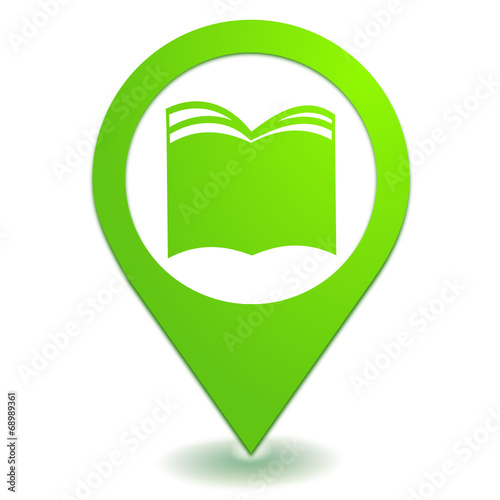 Livre Sur Symbole Localisation Vert Stock Image And Royalty