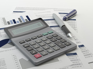 The calculator and financial report