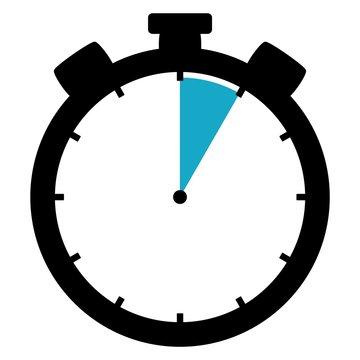 Stoppuhr: 5 Sekunden / 5 Minuten / 1 Stunde