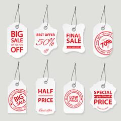 Sale labels set.