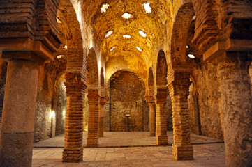 Papiers peints Artistique Hammam, arab baths in Ronda, Málaga, Spain