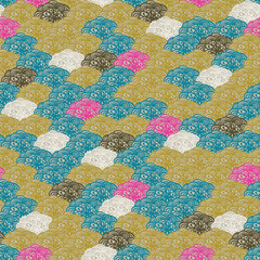 Vector Colorful abstract retro pattern 10