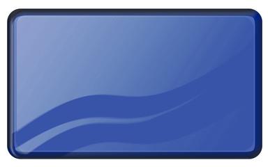bouton bleu rectangulaire