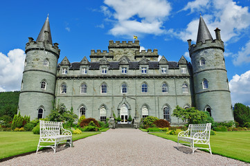 Inveraray castle front view Wall mural