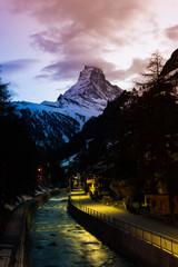 Amazing Twilight on Matterhorn Glacial, Zermatt, Switzerland