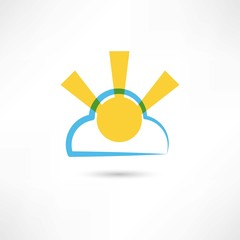 sunny cloud icon