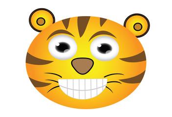 cartoon tiger head