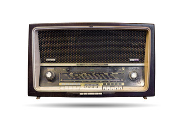 The old radio isolated