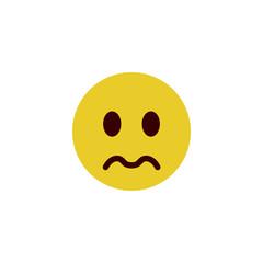 Depressed flat emoji