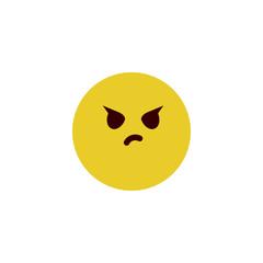 Attitude face flat emoji