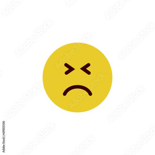 Nervous flat emoji