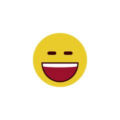 Laughing flat emoji