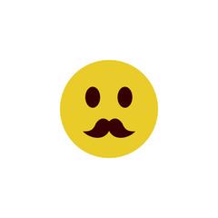 Mustache flat emoji