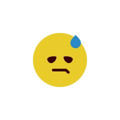 Tired flat emoji