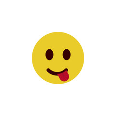 Playful - flat emoji