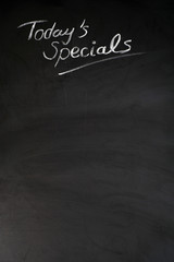 today's specials - chalckboard