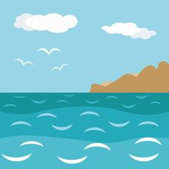 sea decorative landsape