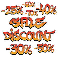 Sale/discount - graffiti. EPS8.