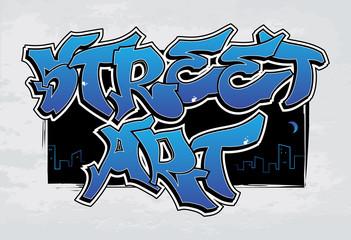 Street Art - graffiti. EPS8.