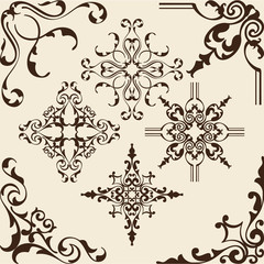 Rococo corner elements