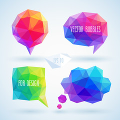 Wall Mural - Colorful geometric bubbles for speech.