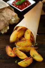 Baked potatoes and chive