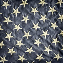 Retro styled image of a detail of the American flag