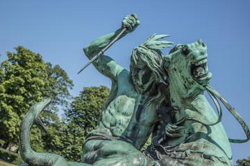 Kamp med en slange Skulptur Kongens Have Rosenborg Slot