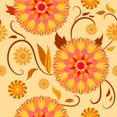 semaless pattern of decorative flowers