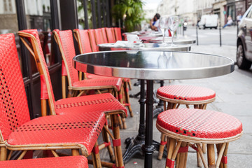Straßencafe in Paris