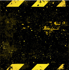 Black-yellow construction striped background vector