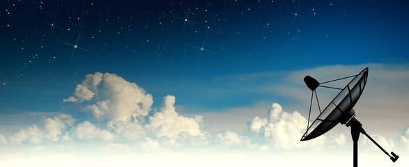 Satellite dish sky sun stars
